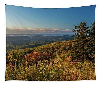Blue Ridge Mountain Autumn Vista Tapestry