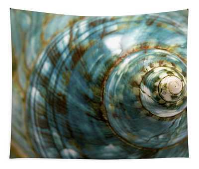 Blue Seashell Tapestry