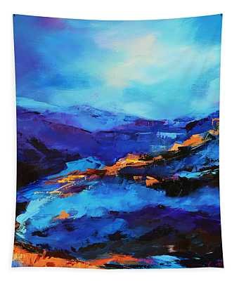 Blue Shades Tapestry