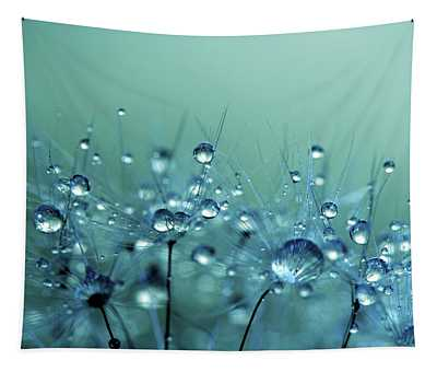 Blue Shower Tapestry