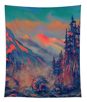 Blue Silence Tapestry