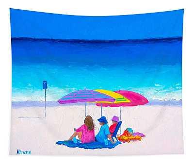 Blue Skies Clear Water Tapestry