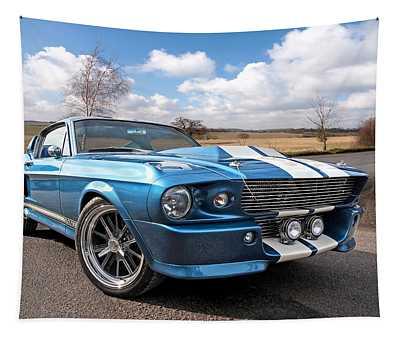 Blue Skies Cruising - 1967 Eleanor Mustang Tapestry