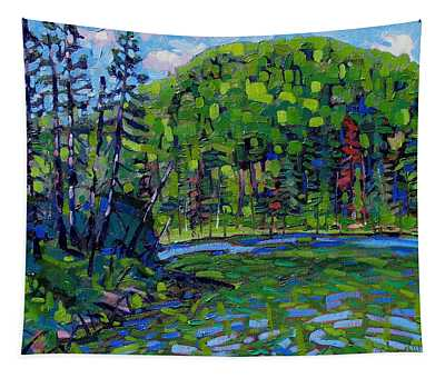Blue Sky Greens Tapestry