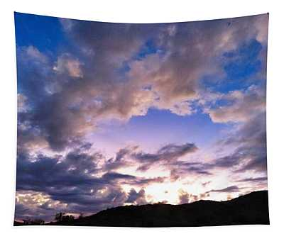 Blue Sunset Tapestry