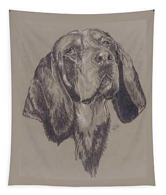 Bluetick Coonhound Tapestry