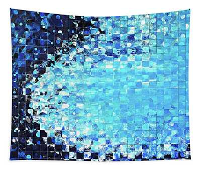 Blue Wave Art - Pieces 7 - Sharon Cummings Tapestry