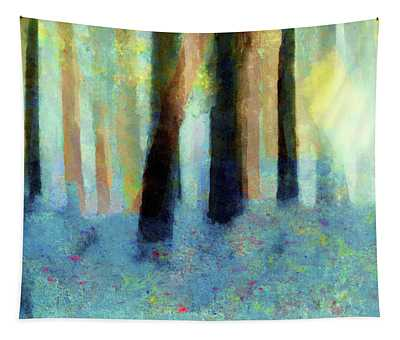 Bluebell Wood By V.kelly Tapestry