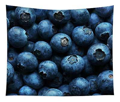 Blue Berry Photographs Wall Tapestries