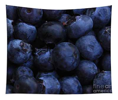 Blueberries Close-up - Horizontal Tapestry