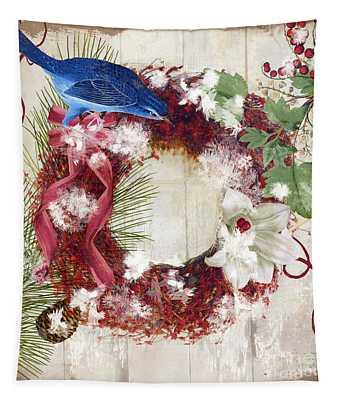 Bluebird Christmas I Tapestry
