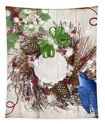 Bluebird Christmas II Tapestry