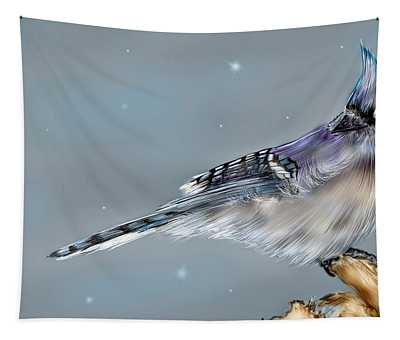 Winter Bluejay Tapestry