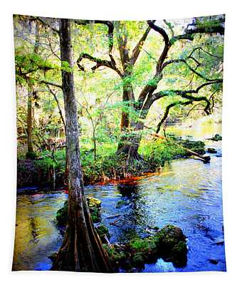 Blues In Florida Swamp Tapestry