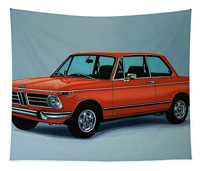 Bmw 2002 1968 Painting Tapestry