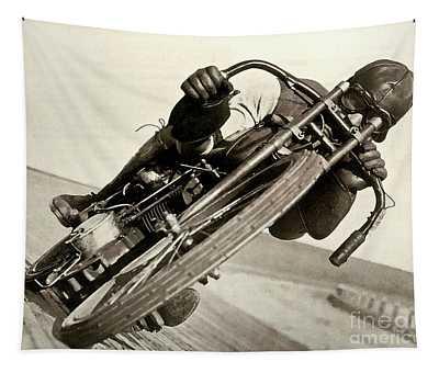 Board Track Racer, 1921, Motorcycle Vintage Tapestry