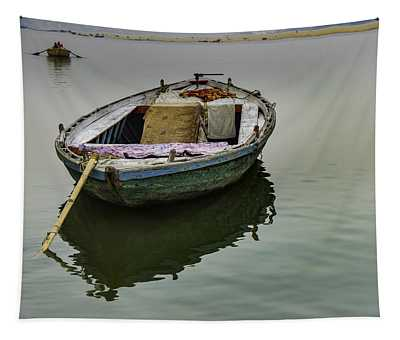 boat at Ganges Tapestry