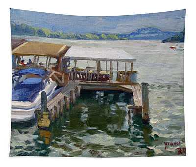 Boats At The Shores Tapestry