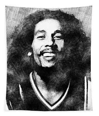 Bob Marley Portrait Tapestry