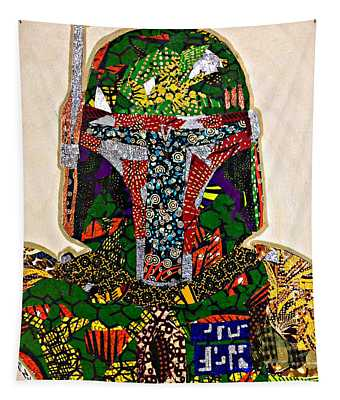 Boba Fett Star Wars Afrofuturist Collection Tapestry