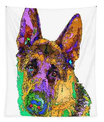 Bogart The Shepherd. Pet Series Tapestry