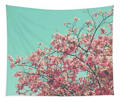 Boho Cherry Blossom 2- Art By Linda Woods Tapestry