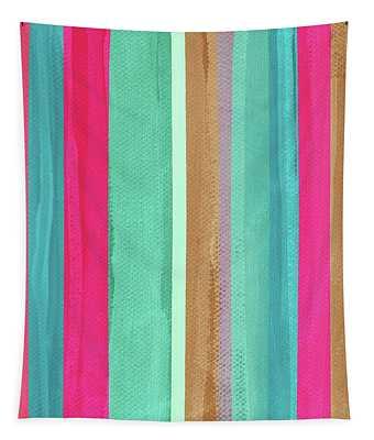 Boho Stripe- Art By Linda Woods Tapestry