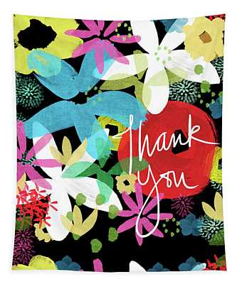 Bold Floral Thank You Card- Design By Linda Woods Tapestry