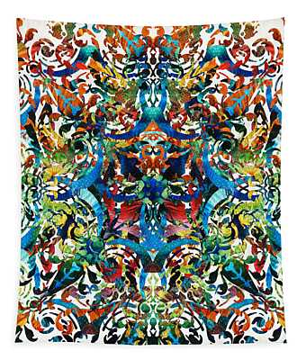 Bold Pattern Art - Color Fusion Design 8 By Sharon Cummings Tapestry
