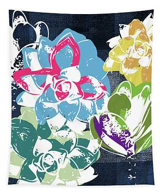 Bold Succulents 2- Art By Linda Woods Tapestry