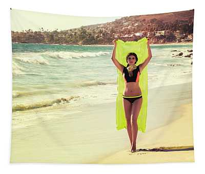 Bond Girl Laguna Beach Tapestry