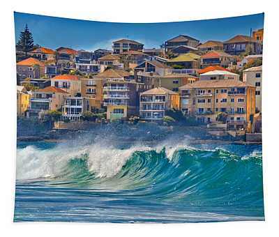 Bondi Waves Tapestry