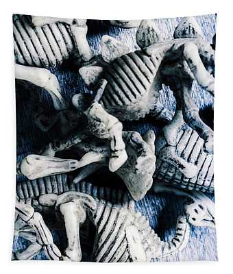 Bones From A Mass Extinction Event Tapestry