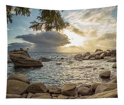 Bonsai Rock Through The Trees By Brad Scott Tapestry