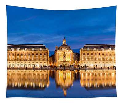 Bordeaux By Night Tapestry