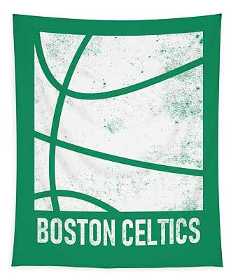 Boston Celtics City Poster Art 2 Tapestry