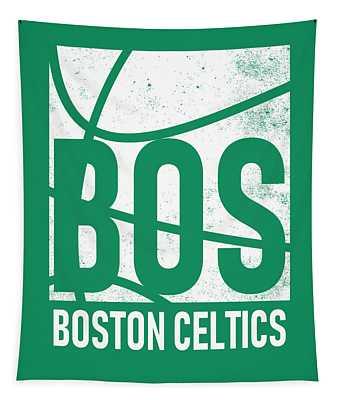 Boston Celtics City Poster Art Tapestry