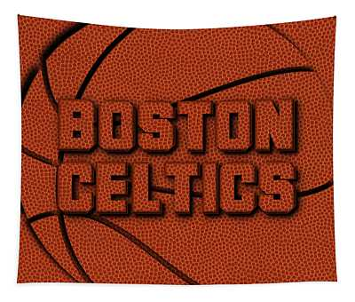Boston Celtics Leather Art Tapestry
