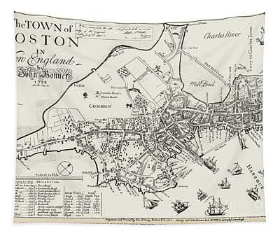 Boston Map, 1722 Tapestry