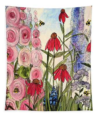 Botanical Wildflowers Tapestry