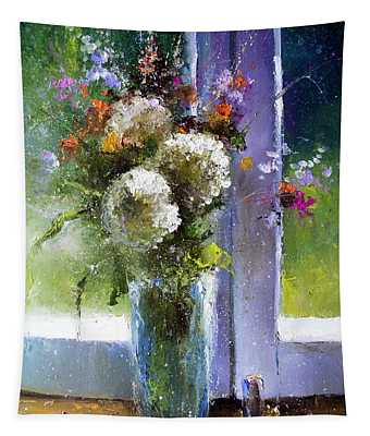 Bouquet At Window Tapestry