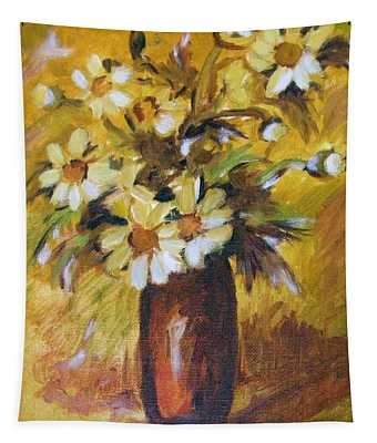 Bouquet Flowers Of Gold Tapestry