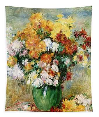 Bouquet Of Chrysanthemums Tapestry