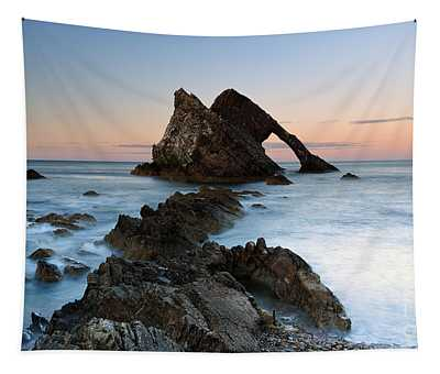 Bow Fiddle Rock At Sunset Tapestry
