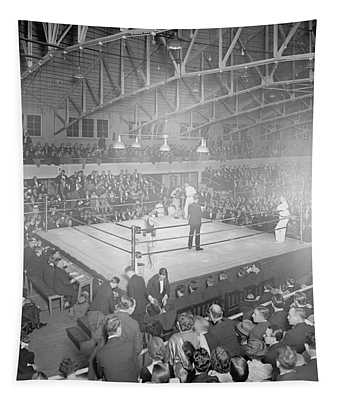 Boxing Match In 1916 Tapestry
