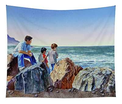 Boys And The Ocean Tapestry