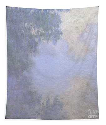 Branch Of The Seine Near Giverny  Mist Tapestry