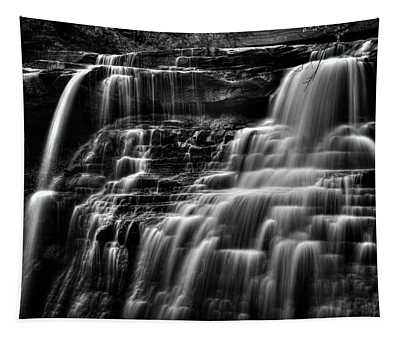 Brandywine Falls At Cuyahoga Valley National Park B W Tapestry