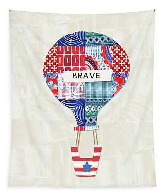 Brave Balloon- Art By Linda Woods Tapestry