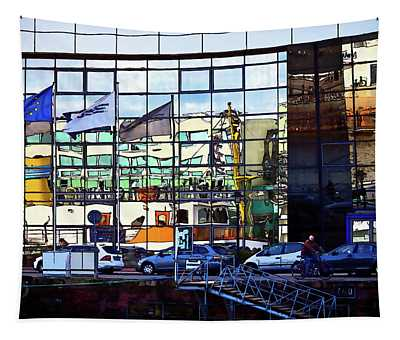 Bremerhaven Harbor Reflections Tapestry